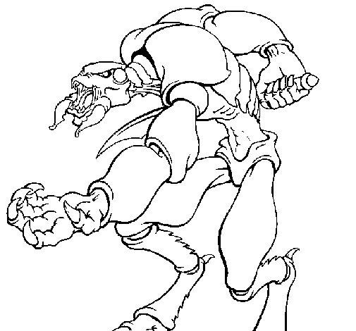 Dibujo de Alien para Colorear