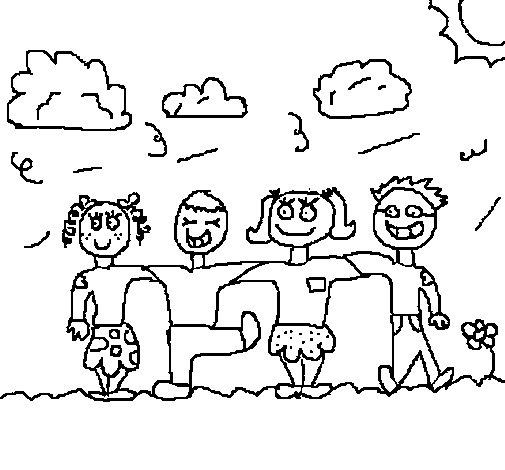 Dibujo de Amigos para Colorear