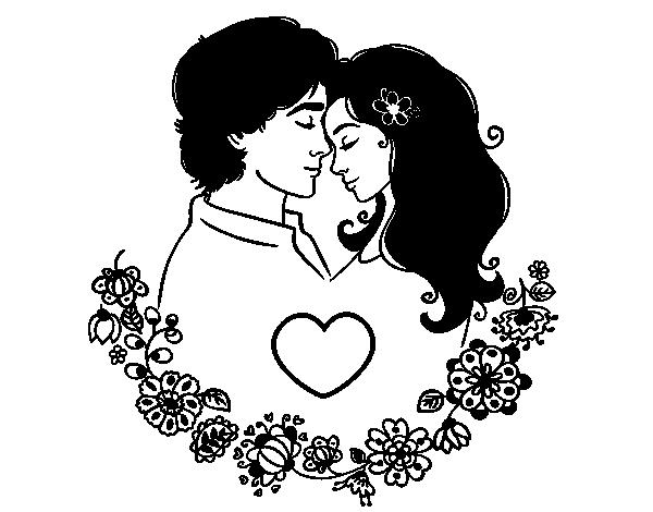 Dibujos De Amor Para Colorear: Dibujo De Amor Perfecto Para Colorear