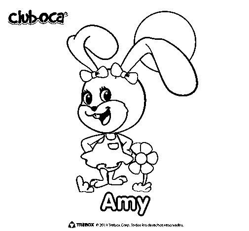 Dibujo de Amy para Colorear