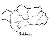 Dibujo de Andalucía para colorear