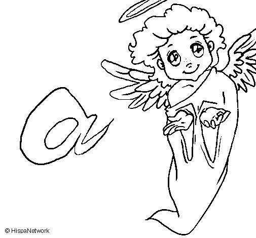 Dibujo de Ángel para Colorear