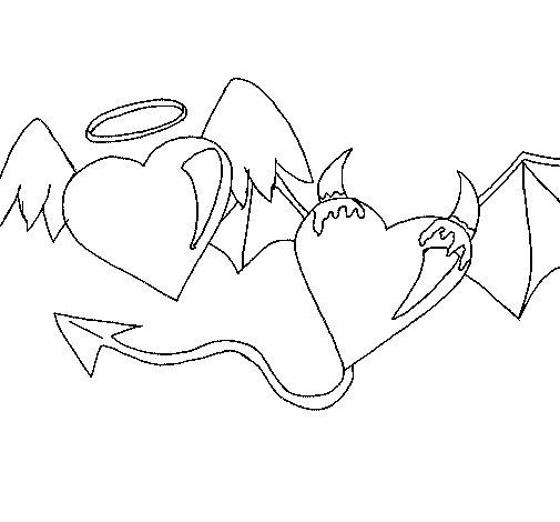 Dibujo de Angel devil para Colorear
