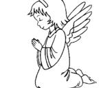 Dibujo de Ángel orando para colorear