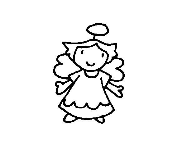 Dibujo de Angelita para Colorear