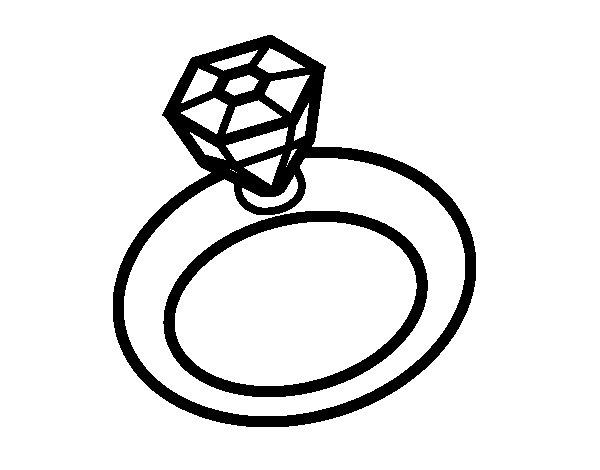 Dibujo de Anillo de boda para Colorear