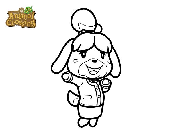 Dibujo de Animal Crossing Canela para Colorear  Dibujosnet