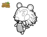Dibujo de Animal Crossing: Pili para colorear
