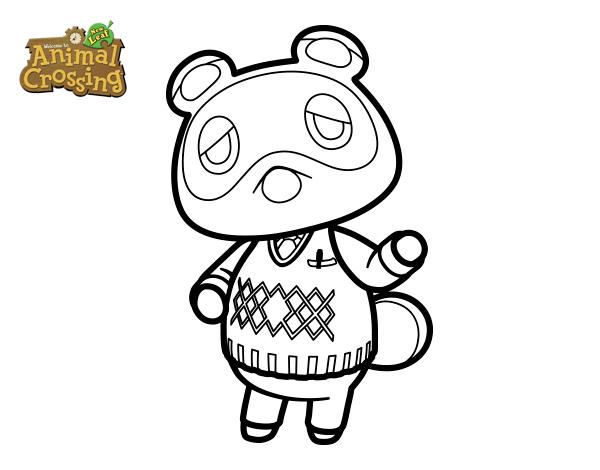Dibujo de Animal Crossing: Tom Nook para Colorear
