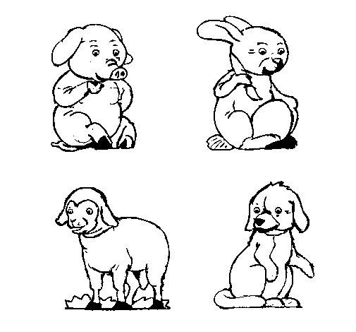 Dibujo de Animales de granja para Colorear
