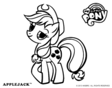 Dibujo de Applejack para colorear