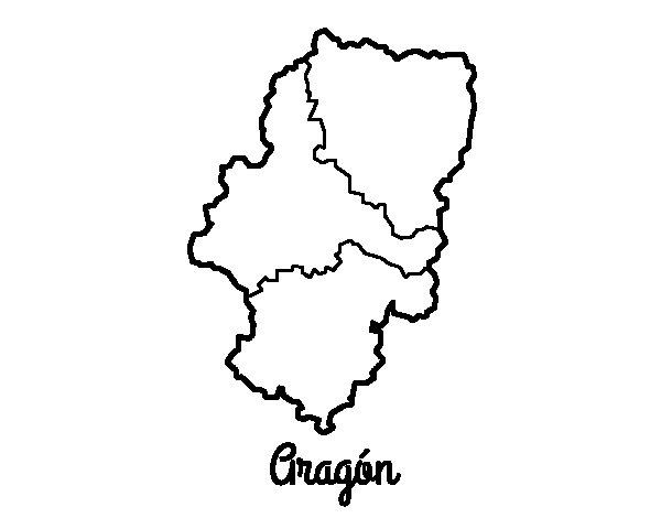 Dibujo de Aragón para Colorear