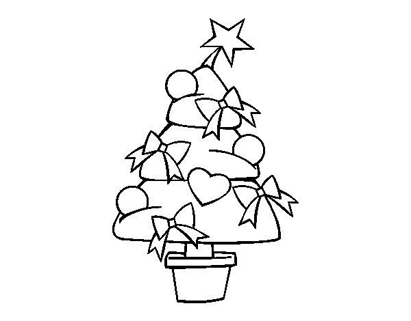 Dibujo de Árbol de navidad 3 para Colorear
