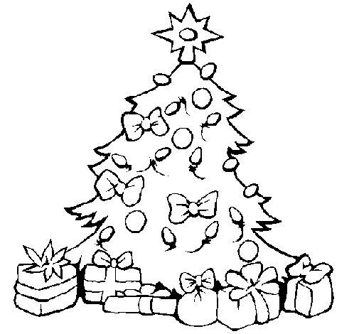 dibujo de rbol de navidad para colorear - Dibujo Arbol De Navidad