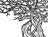 Dibujo de Árbol fantasmal para colorear