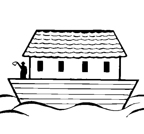 Dibujo de Arca de Noe para Colorear