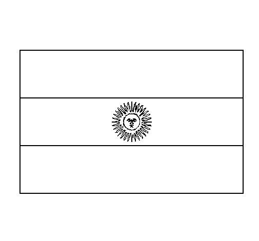 Dibujo de Argentina para Colorear
