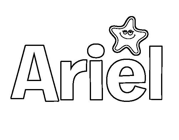 Ariel La Sirenita Para Colorear Para Dibujos De La: Dibujo De Ariel Para Colorear
