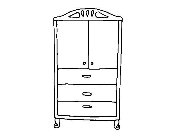 Dibujo de Armario para la ropa para Colorear Dibujos net