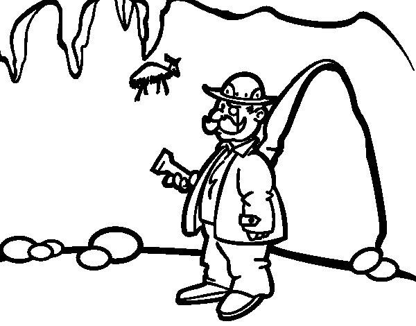 Dibujo de Arqueólogo para Colorear