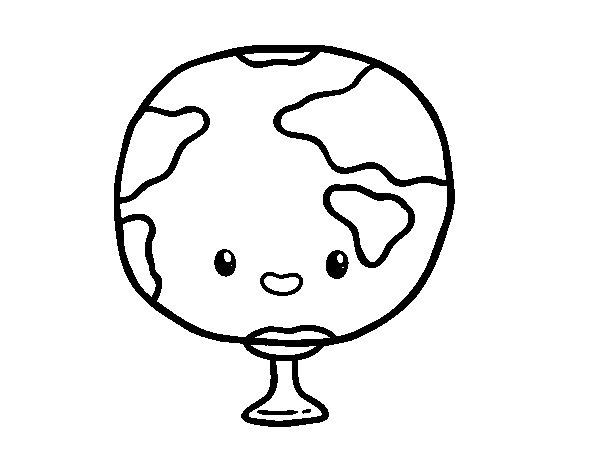 Dibujo de Asignatura de geografía para Colorear