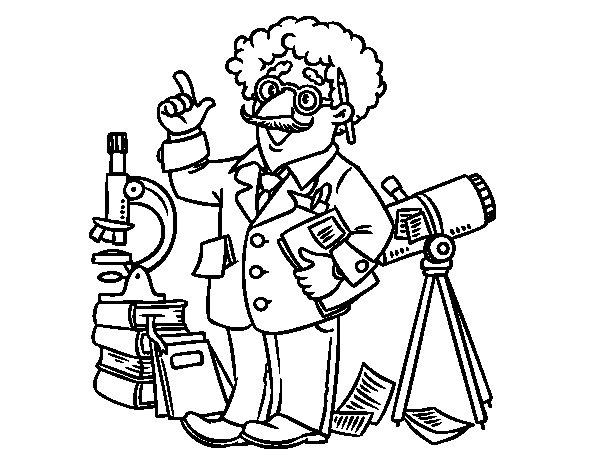 Dibujo de Astrónomo para Colorear