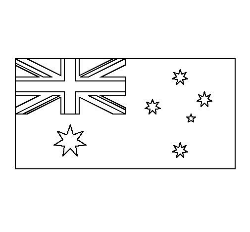 Dibujo de Australia para Colorear