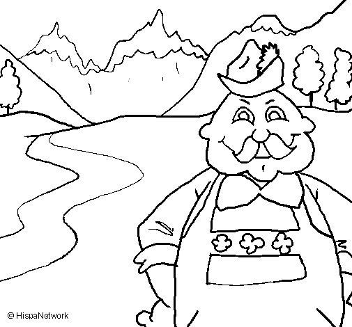 Dibujo de Austria para Colorear