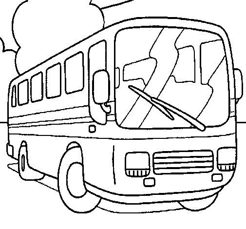 Dibujo de Autobús para Colorear