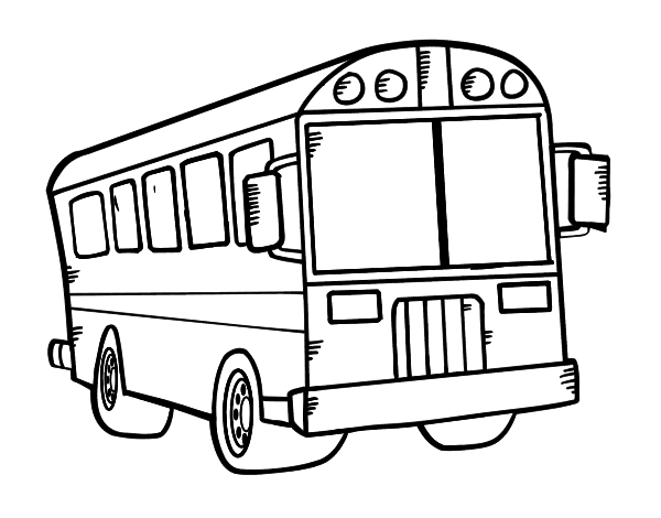 Dibujo para colorear un autobus imagui - Autocar dessin ...