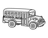 Dibujo de Autobús escolar americano para colorear