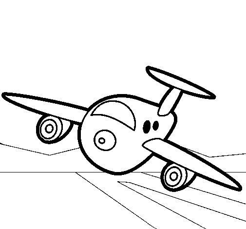 Dibujo de Avin aterrizando para Colorear  Dibujosnet