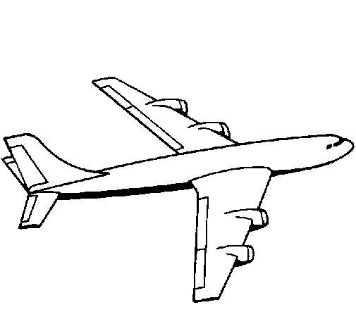 Dibujo de Avión para Colorear