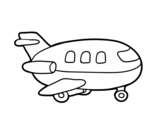 Dibujo de Avión de madera para colorear