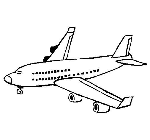 Dibujo de Avión de pasajeros para Colorear