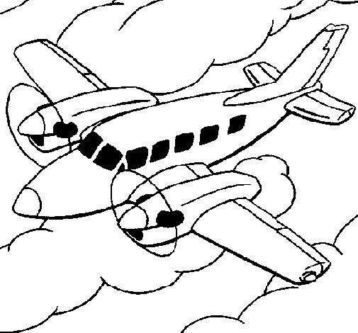Dibujo de Avioneta 1 para Colorear