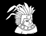 Dibujo de Azteca para colorear