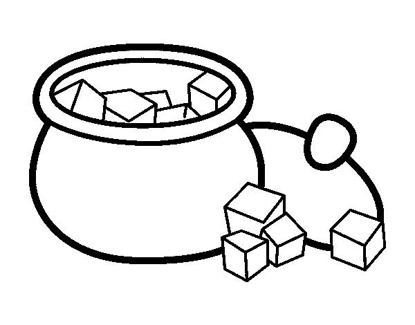 dibujo de azucarero para colorear