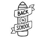 Dibujo de Back to School para colorear