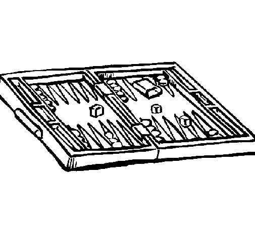 Dibujo de Backgammon para Colorear