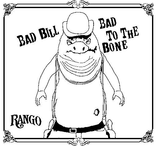 Dibujo de Bad Bill para Colorear