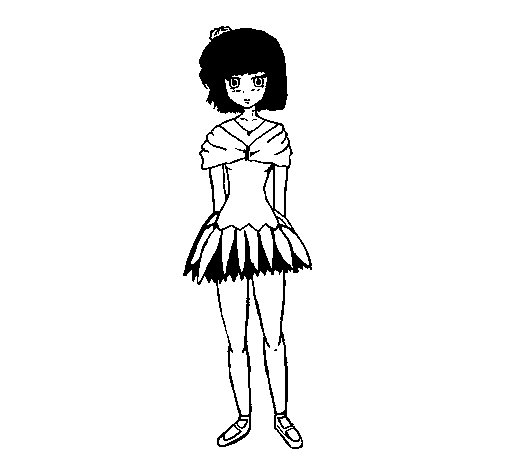 Dibujo de Bailarina 1 para Colorear