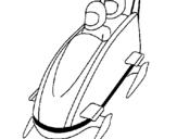 Dibujo de Bajada en trineo moderno para colorear