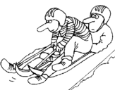 Dibujo de Bajada en trineo para colorear