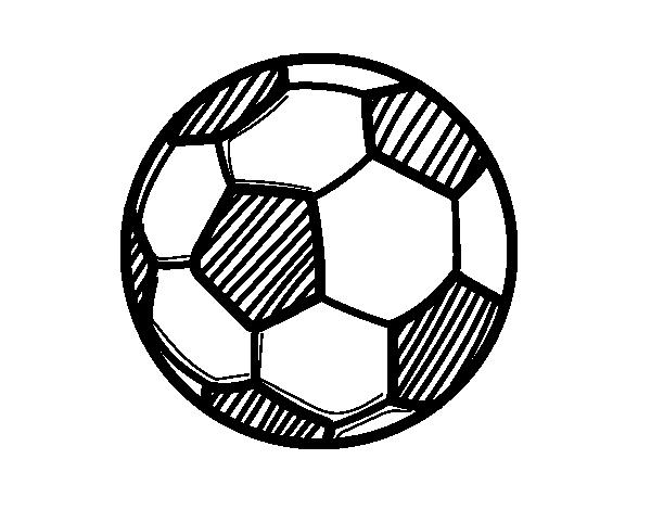 Dibujo de bal n de f tbol para colorear - Pagina da colorare di un pallone da calcio ...