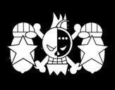 Dibujo de Bandera de Franky para colorear