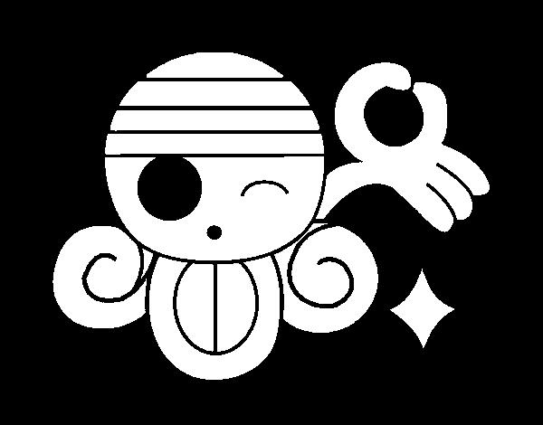 Dibujo de bandera de nami para colorear for Dibujos one piece