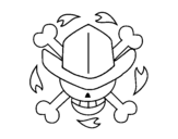Dibujo de Bandera de Nico Robin para colorear