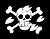 Dibujo de Bandera de Tony para colorear