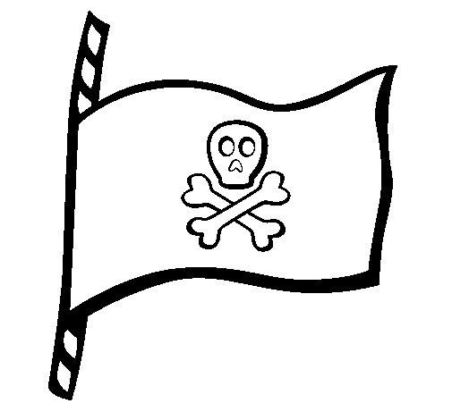 Dibujo de Bandera pirata para Colorear